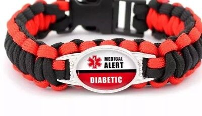 Diabities ALERT Bracelet(Comes With Express Post Free)Dont Let This Disease Kill