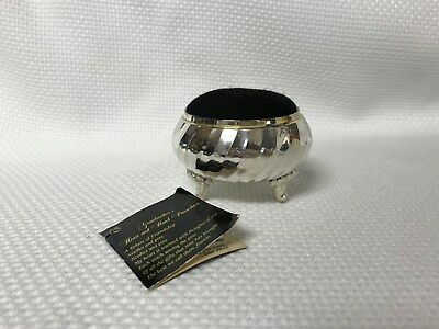 Vintage Grandmothers Silver Plate Footed Pin Cushion MINT NIP
