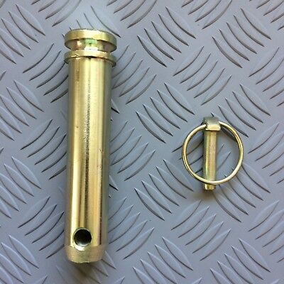 105mm Useable Length with linch pin 25.4mm Tractor Top Link Pin Cat 2 4.1//4/""