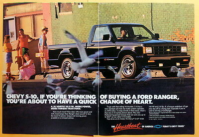 1988 Magazine Print Ad for Chevy S-10 Truck