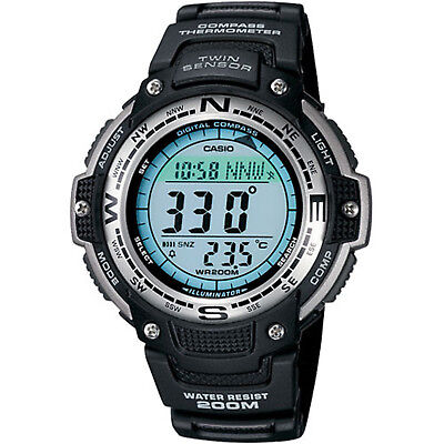 Casio Men's Twin Sensor Digital Quartz Black 47.5mm Watch SGW100-1V