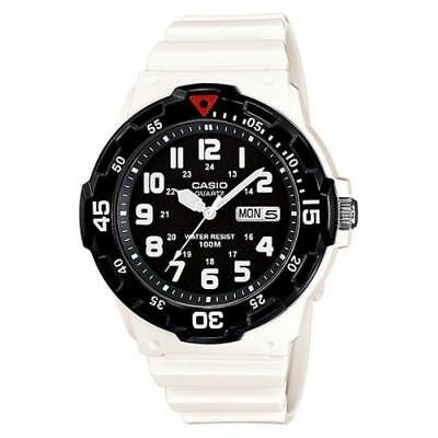 Casio Men's Quartz Black Rotating Bezel White Resin 45mm Watch MRW200HC-7BV