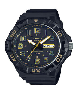 Casio Men's Quartz 'Diver Style' Rotating Bezel Black 50mm Watch MRW210H-1A2V