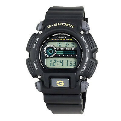 Casio Men's G-Shock Quartz Chronograph Black Resin 49mm Watch DW9052-1BCG