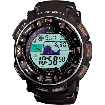 Casio Pro Trek Men's Solar Atomic Black Resin Band 50.5mm Watch PRW2500R-1