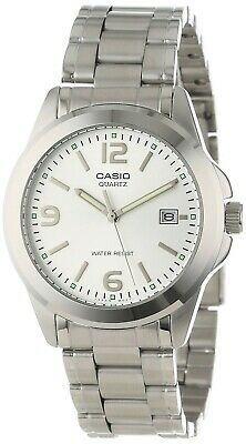 Casio Men's Quartz White Dial Silver-Tone Bracelet 36Mm Watch Mtp1215a-7A