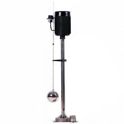 "1/3 HP Upright Sump Pump 120VAC 1-1/2"" FNPT Vertical Switch Stainless Steel"