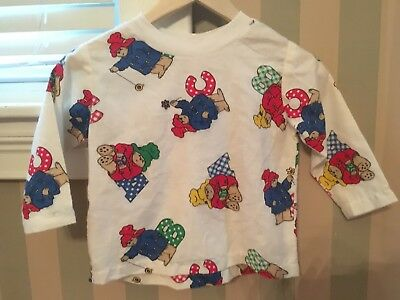 Vintage Paddington Bear Long Sleeve Shirt Kids Small -RARE