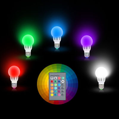 E27 E14 LED Light Bulb Lamp RGB Magic 16 Color Changing With IR Remote Control