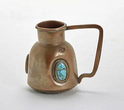 Antique Middle Eastern Turquoise Mounted Jug 19Th C.