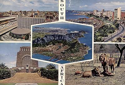 South Africa  -  Johannesburg - Durban - Cape Town and Table Mountain  -  1964