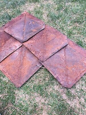 Rusty Tin Archtectural Rare Shingles
