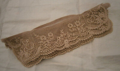 Vintage Coffee Embroidered Lace Two Piece Collars X 6 Unused Old Shop Stock