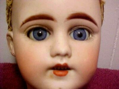 Bautiful Antique Bisque Head Doll & Original Clothing - Needs Stringing