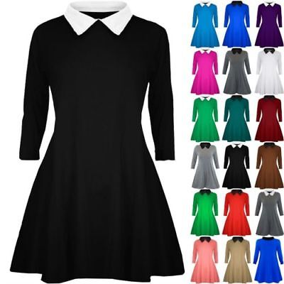 f8f792c5ff Jurken NEW DOMINO MADCAP ENGLAND RETRO MOD 60S PETER PAN COLLAR DRESS BLACK  MC184