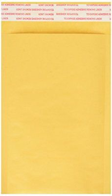 "4"" x 7"" Kraft Bubble Mailer, Self-Seal Shipping Envelopes, Padded, ,#000"
