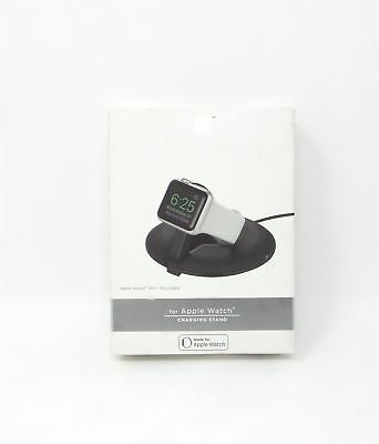Platinum Soft-Touch Apple Watch Convenient Pop-Up Charging Stand PT-AWCSB
