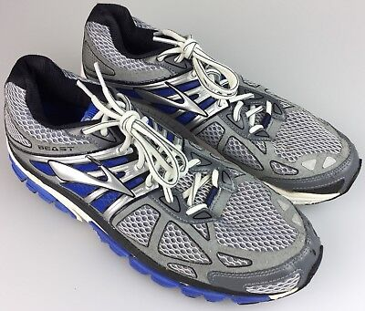 413163a4ff8b5 Brooks Beast 14 Mens Running Athletic Shoes Gray Blue Silver Size 10.5
