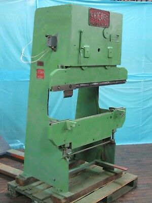 "Chicago Model 131 48"" x 11 Ton Press Brake with Modified Bed used as a Press"