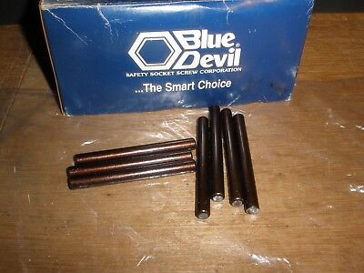 "5/16"" X 3"" Dowel Pins Blue Devil Black Oxide Ebony Finish USA Made (Qty.7)"