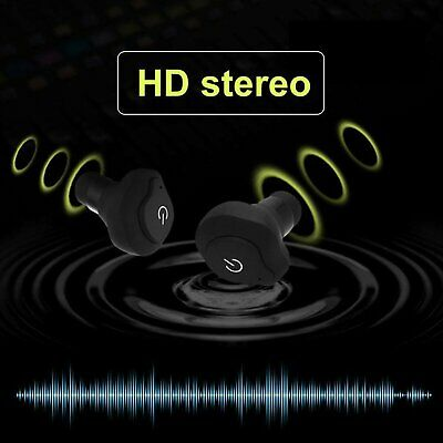 Mini Wireless Bluetooth Earbuds +Mic True Bass Stereo In-Ear Earphones Headsets