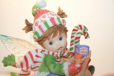My Little Kitchen Fairies Figurine - Holiday Shopper - Sled and Groceries - 2008