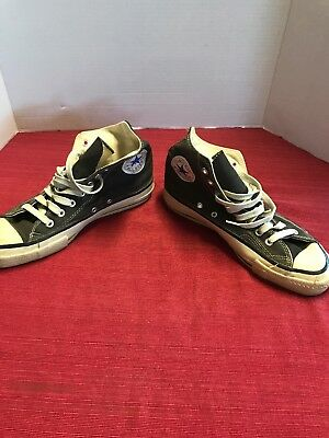 Vintage Converse All Star Chuck Taylor Black High Top Size 8/9 Made In Usa Nice