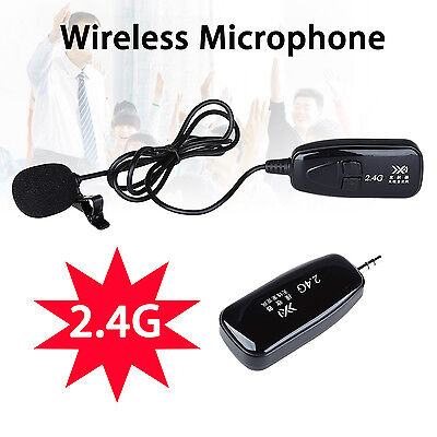 2.4G Wireless Microphone Lapel Style MIC Receiver Transmitter Voice Amplifier