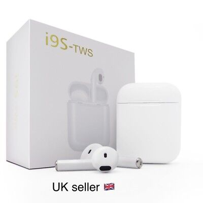 i9S TWS Bluetooth New Wireless Earpods Earphones for IOS/iPhone or Android