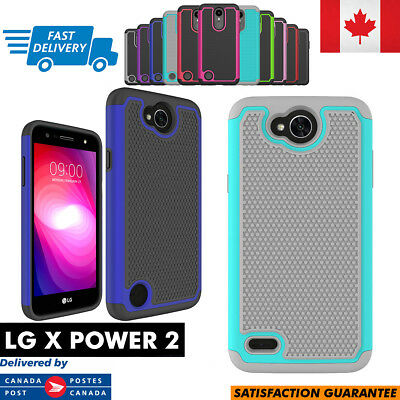 For LG X Power 2 Case Hybrid ShockProof Defender Rugged Cover Multi Colors