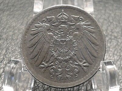 "1921  German 5 Pfennig : ""Imperial Eagle"" : 5 cent coin : #497"