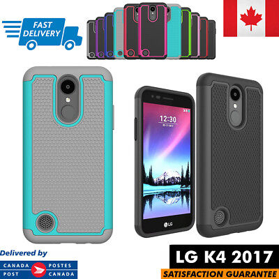 For LG K4 2017 Case Hybrid ShockProof Defender Rugged Cover Multi Colors