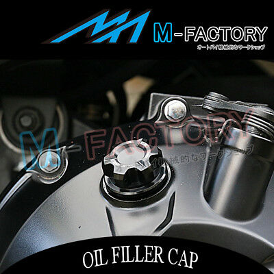 Billet Black CNC T-Axis Engine OIL Filler Cap Fit Suzuki GSXR 750 88-17 89 90 91