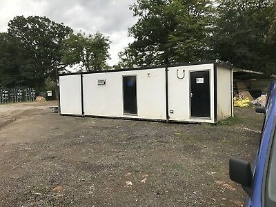 Portable Cabin 32ft x 10ft - Toilet/ Shower Unit - Jack Leg Cabin- Welfare