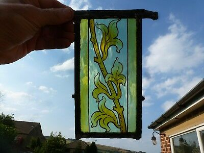 Antique victorian stained glass hand painted etched ?