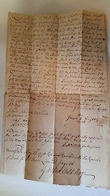1770 LAND DEED Joseph Wright to Caleb May WOODSTOCK Windham Co COLONY of CT (99)