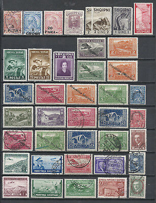 Albania - great collection of older stamps on 2 scans (ALB01)