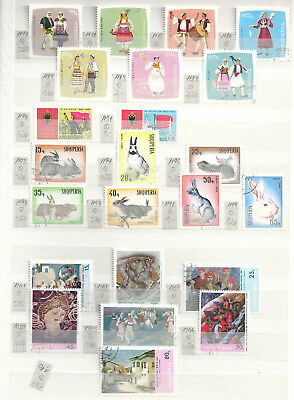 Albania Collection on 3 scans - mainly 1960s wildlife, art and costumes (ALB04)