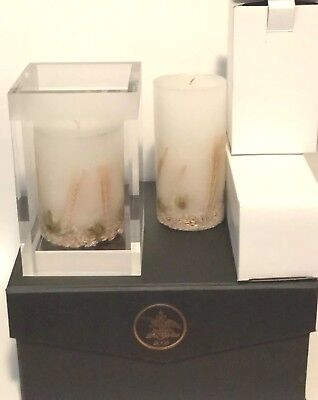 2006 Anheuser Busch Beer AB Candle Crystal Holder Display Case NEW IN BOX