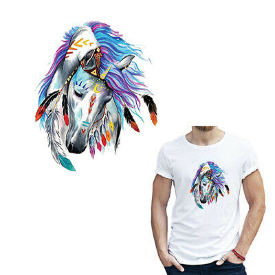 Patches For Clothing Colorful Horse Applique Badge Clothes Shirt Iron on Patch D