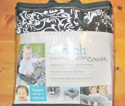 2 in 1 Shopping Cart and Highchair Cover, Day Dream Black & White NEW