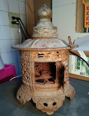 Vintage Cast Iron Japanese Oriental Pagoda House Latern