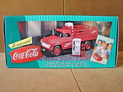 1957 Chevrolet Coca Cola Stake Truck, Vending Machine, and Dolly  Never Opened