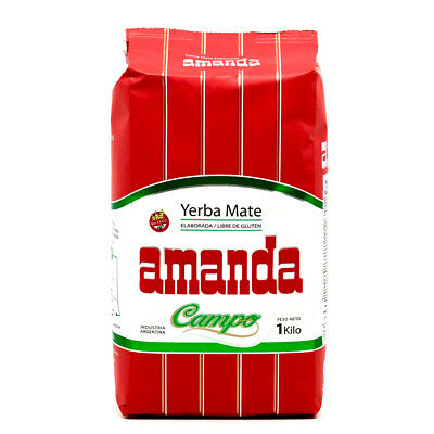 Amanda Yerba Mate Tea Campo (Mild) 1kg - Produced in Argentina