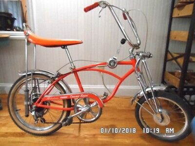 """1970 Schwinn Orange Krate Sting-Ray bicycle EXCELLENT CONDITION """"FREE SHIPPING"""""""