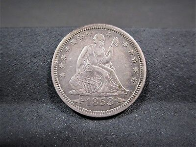 1853 Seated Liberty Quarter - Xf Details - I Combine Shipping