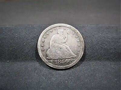 1854 Seated Liberty Quarter - Very Good Details - I Combine Shipping