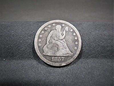 1857 Seated Liberty Quarter - Very Good Details - I Combine Shipping