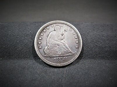 1858 Seated Liberty Quarter - Very Fine Details - I Combine Shipping