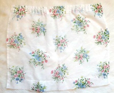 "Vintage Small Window Single White Floral Curtain Panel ~ 26.5"" W x 23.75"" L"